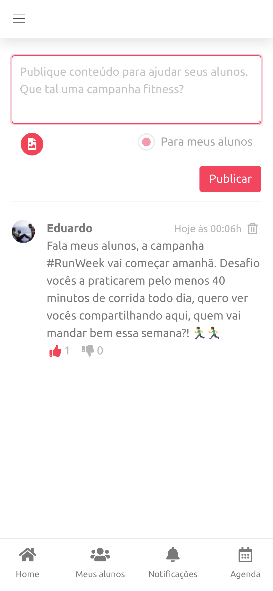 Rede Social Fitness